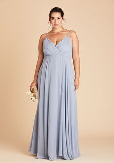 Birdy Grey Kaia Dress Curve in Dusty Blue V-Neck Bridesmaid Dress