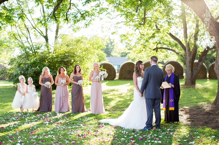 Outdoor Ceremony at The Barn at Belmont in Athens, Georgia