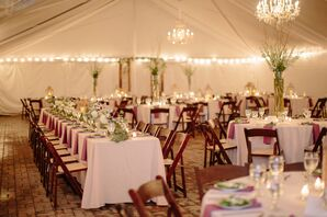 Whimsical Tented Reception With Vaulted Chandeliers