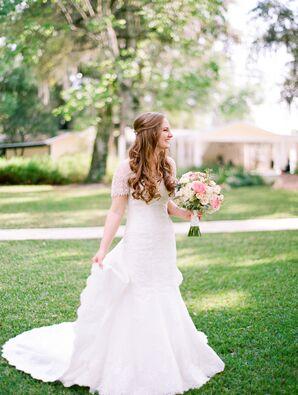 Lace Wedding Dress With Beaded Jacket