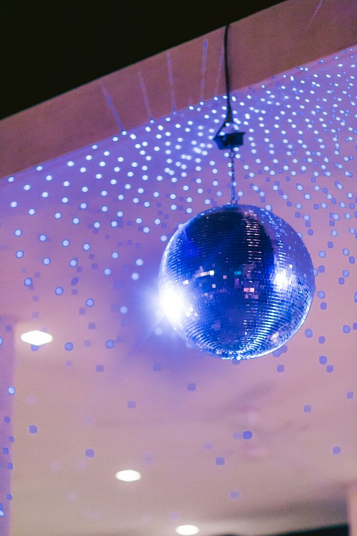 Disco Ball at Wedding Reception in Tulum, Mexico