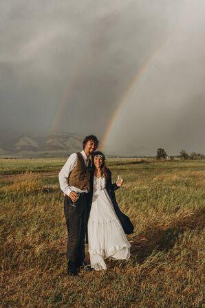 Rainbow at Rathvinden Farm in Belgrade, Montana