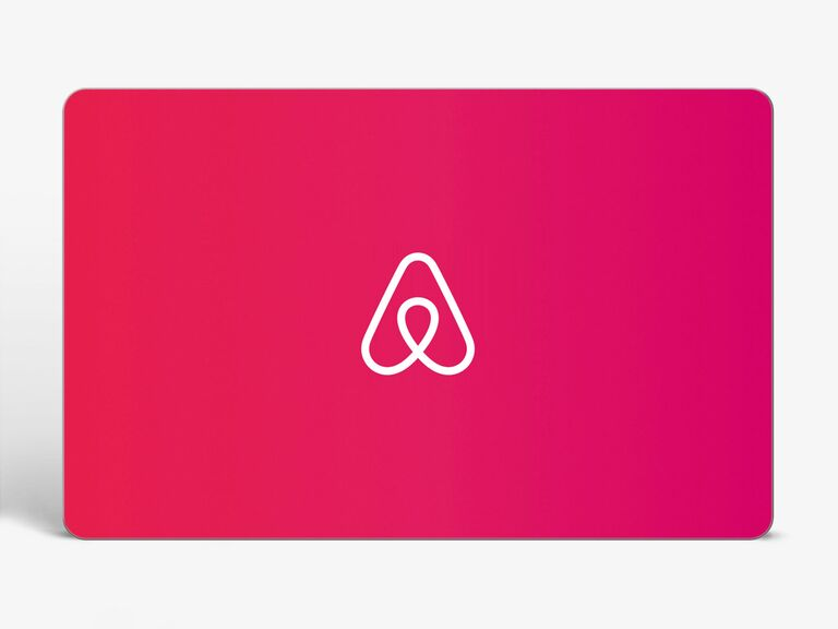 red gift card with Airbnb logo