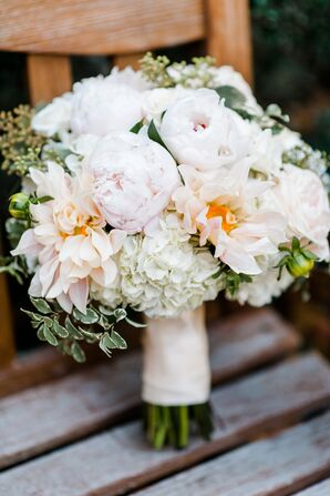 Textured Champagne and Blush Wedding Bouquet