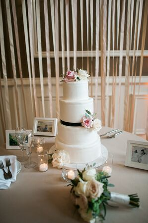 Four-Tier Traditional Ivory Wedding Cake