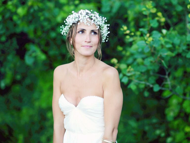 Flower crown made from baby's breath flowers