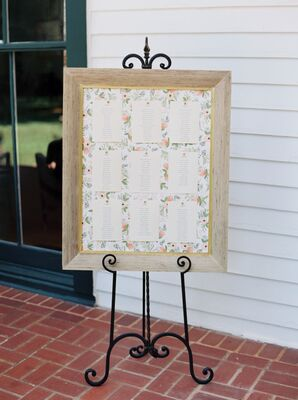 Garden-Inspired Seating Chart, Floral Background