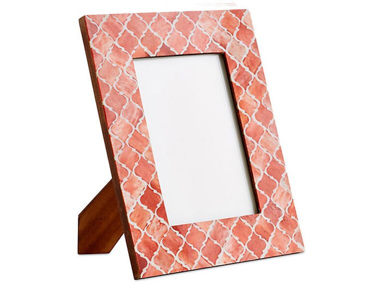 Coral tile photo frame