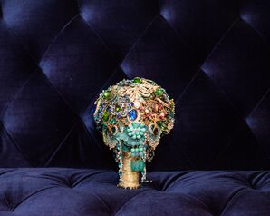 Glamorous Vintage Brooch Bouquet