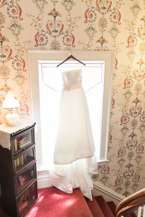 Strapless Satin Pronovias Wedding Dress