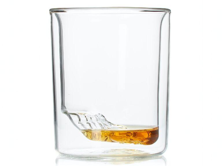 Unique Grand Canyon topographic impression whiskey glass