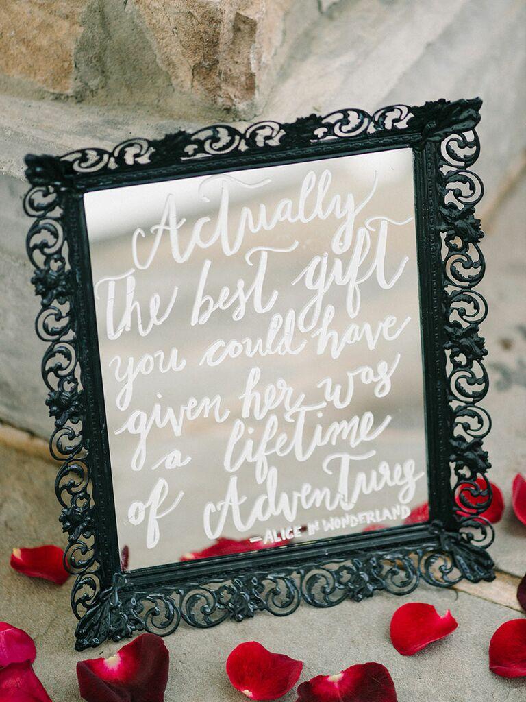 Alice In Wonderland Wedding Sign Idea