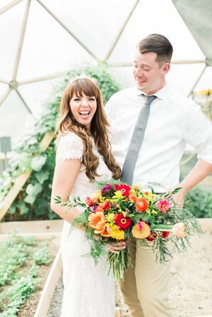 Greenhouse Wedding Photos at Rodale Institute