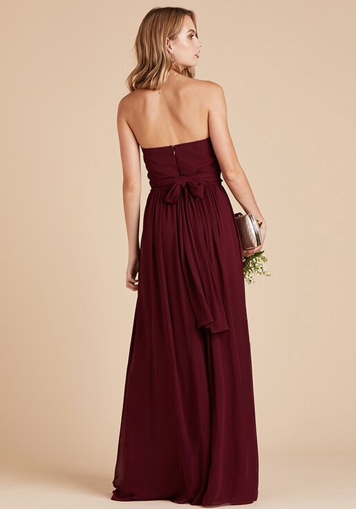 Birdy Grey Chicky Convertible Dress in Cabernet Strapless Bridesmaid Dress