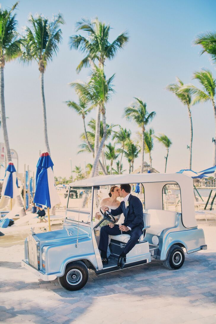 Golf Cart Wedding Transportation