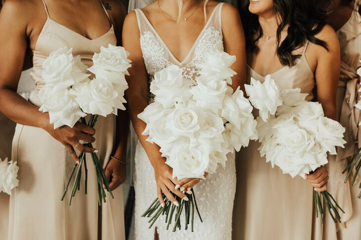 All-White Bouquet for Wedding at Hotel Californian in Santa Barbara, California
