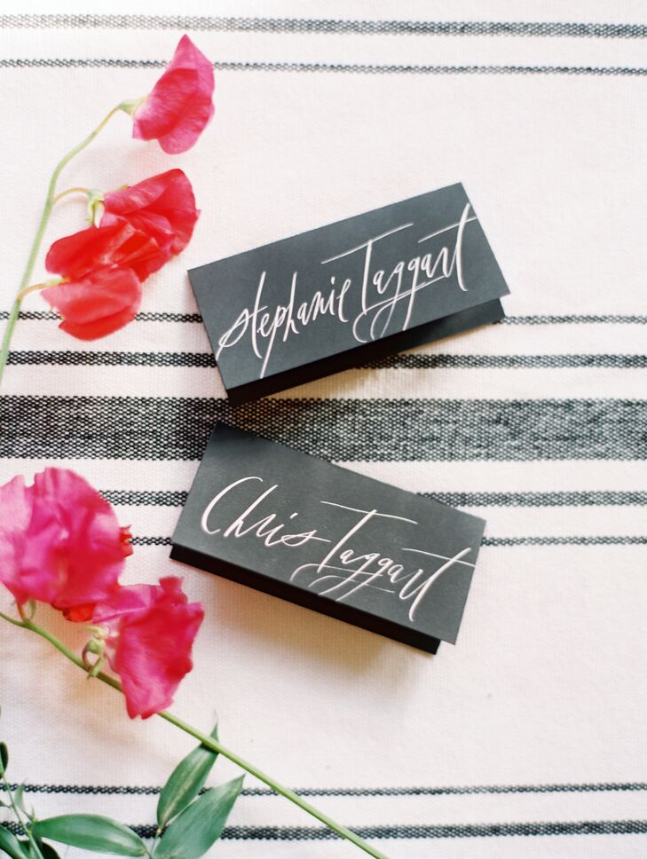 Elegant Calligraphed Place Cards