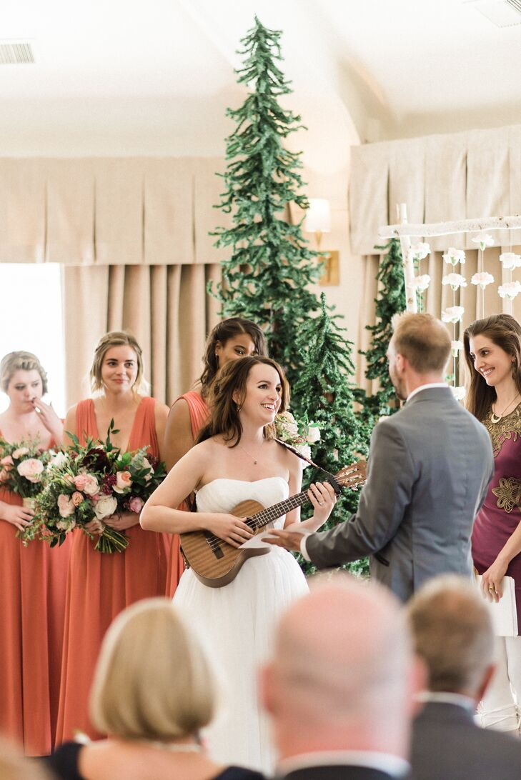 Bride Serenading Groom During Ceremony