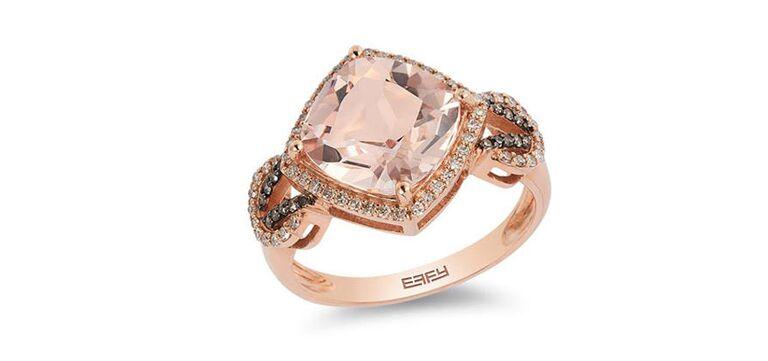 Morganite engagement ring by Effy