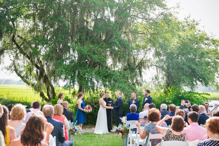 Spanish-Moss-Covered Oak Tree Wedding Ceremony