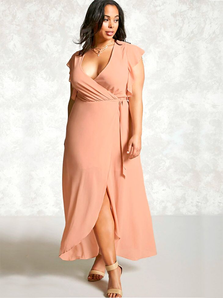 Forever 21 surplice maxi dress spring wedding attire