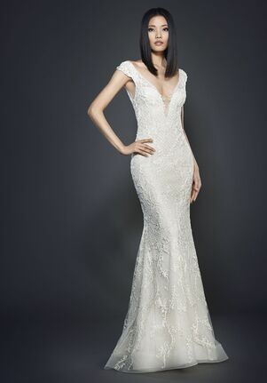 Lazaro 3707 Sheath Wedding Dress