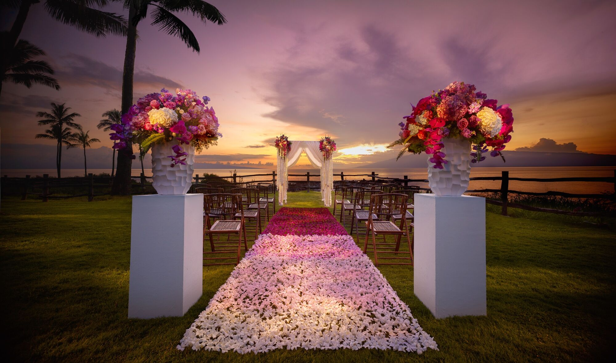 Couple S Wedding Ceremony And Reception Held At The Beach: Reception Venues - Lahaina, HI