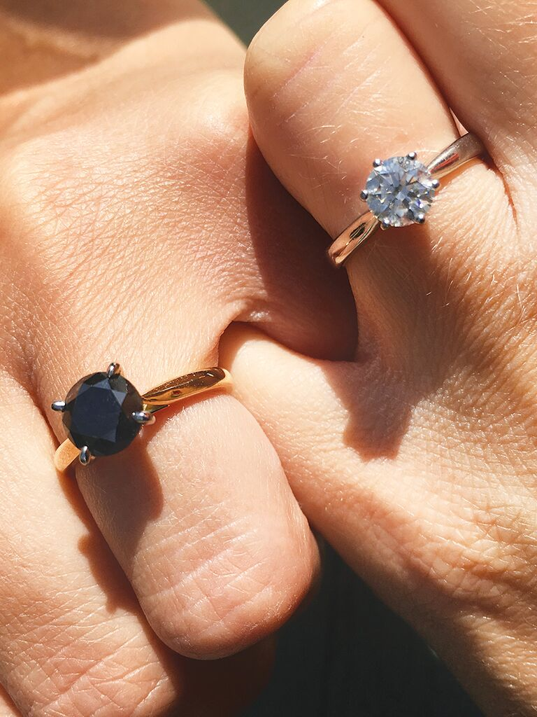 Engagement ring selfie idea with your partner