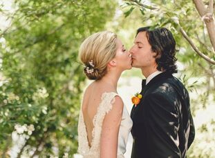 Laura and Dogan planned a colorful, eclectic affair with a vintage, Southwestern vibe.