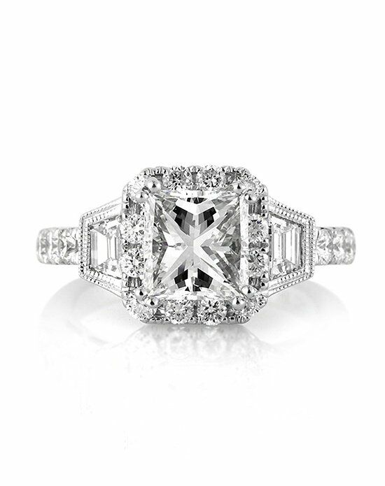 Mark Broumand 3.49ct Princess Cut Diamond Engagement Ring ...