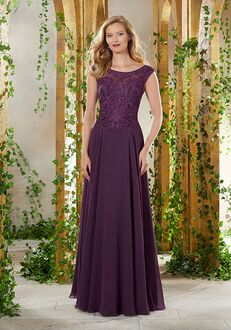 MGNY 71905 Blue Mother Of The Bride Dress