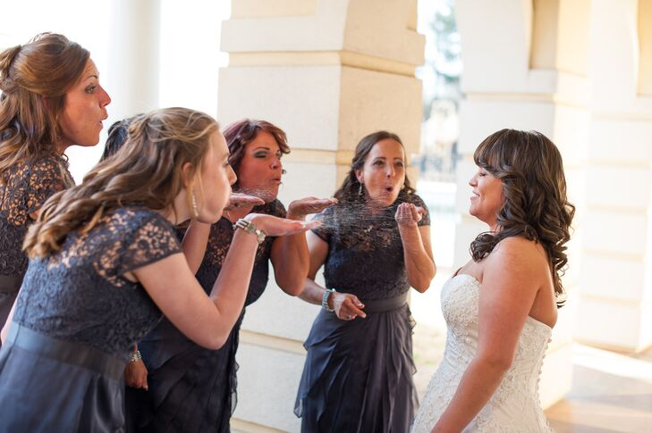 Bridesmaids' Salt-Blowing Tradition