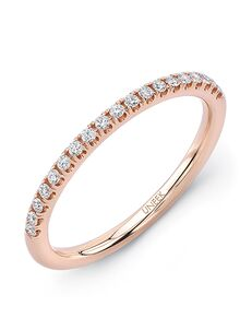 Uneek Fine Jewelry A106-107B Rose Gold Wedding Ring