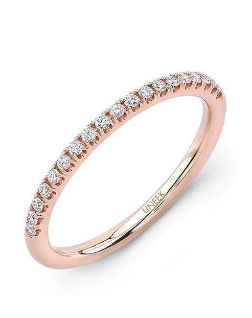 Uneek Fine Jewelry A106-107B Rose Gold Wedding Ring