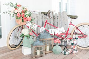 Vintage Bicycle with Personalized Sign