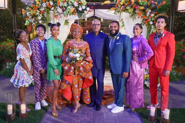 blackish cast wedding