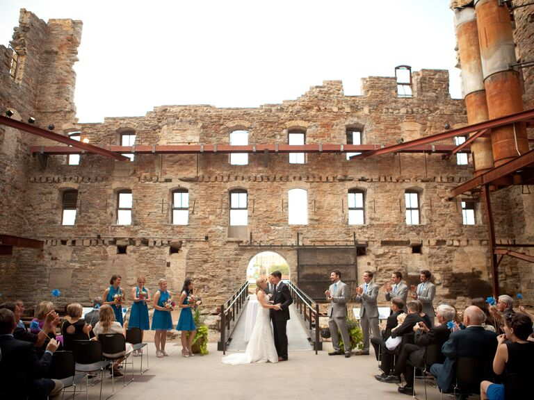 Mill City Museum In Minneapolis Wedding Ceremony