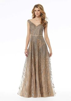 MGNY 72136 Gold Mother Of The Bride Dress