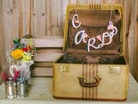 suitcase wedding card box