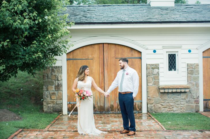 A palette of bright, punchy hues perfectly reflected the vibrant, cheerful vibe of Ellie Marin and Delbert Taylor's summer wedding at The Homestead at
