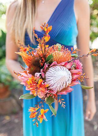 wild protea bouquet | She Wanders | blog.theknot.com