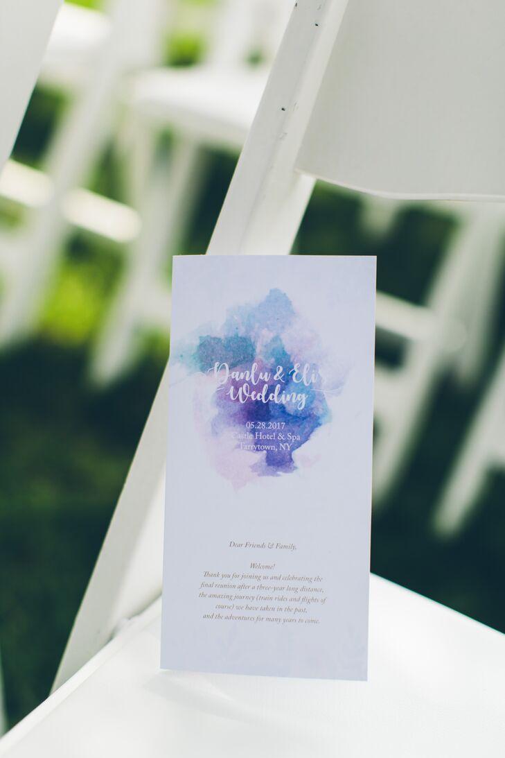 Purple and Blue Watercolor Programs