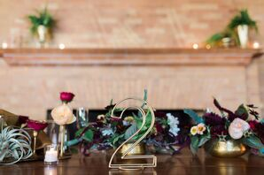 Gold Wire Table Numbers