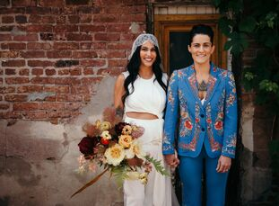 """A self-proclaimed """"nontraditional couple,"""" Marisa Bollman (above right, 31 and a certified nursing assistant) and Melissa Alves (28 and a jewelry desi"""