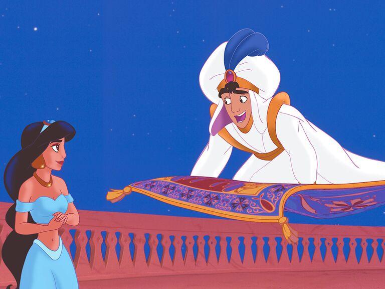 Aladdin and Jasmine famous disney couples