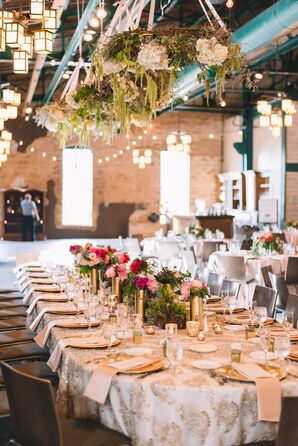 Hanging Wreath Over Head Table