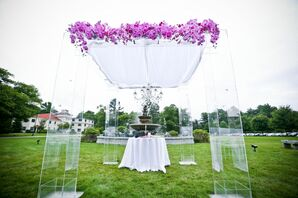 Lucite and Phalaenopsis Orchid Huppah