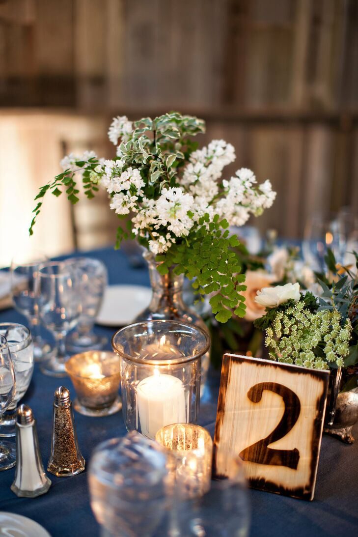 Each table was numbered with wood block table numbers that completed the rustic chic vibe of the reception.