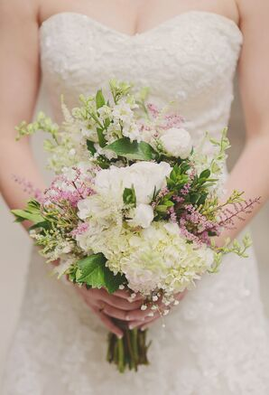 Blush and White Wildflower Bouquet