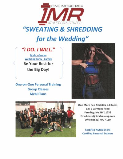 Sweating and Shredding for the Wedding